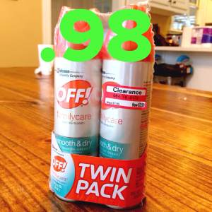 Cheap bug spray at Target with coupons